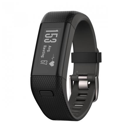 Garmin Vivosmart HR+  - Smartwatch, Negru, XL