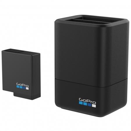 GoPro - Incarcator Dual + Acumulator pentru Hero5 Black