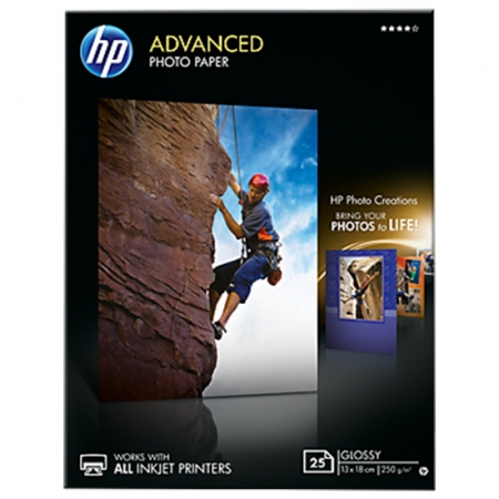 HP Photo Advanced Glossy Photo Paper A4 25coli