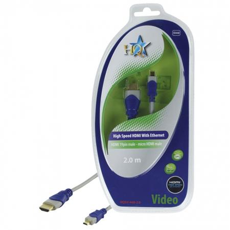 HQ HQSV-440-2.0 - cablu micro HDMI - HDMI mare, 2m