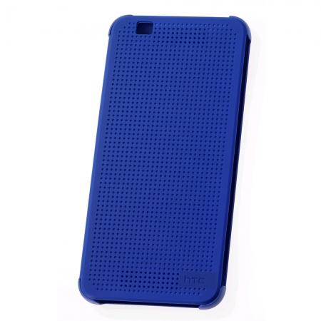 HTC (HC M160) - Husa agenda DOT View pentru Desire Eye - albastru