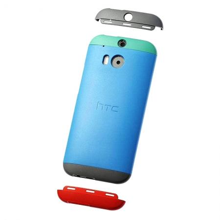 HTC HC C940 - Husa rigida Double Dip HTC One M8 - albastru