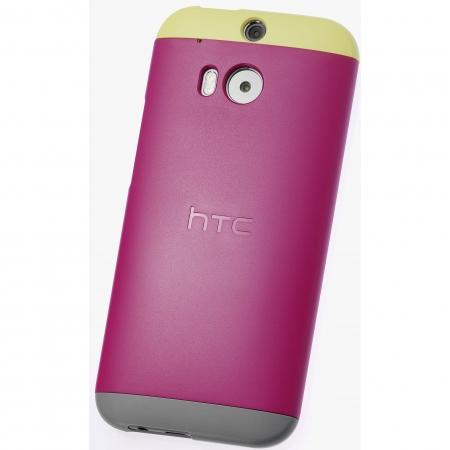 HTC HC C940 - Husa rigida Double Dip pentru HTC One M8 - Roz