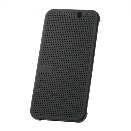 HTC HC M231 - husa Dot View pentru HTC ONE M9 - gri-negru