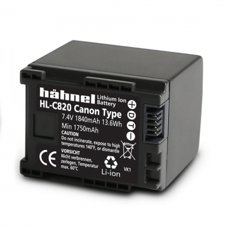 Hahnel Acumulator HL-C820 Li-Ion Canon BP-819/BP-820, 1840mAh RS125017760