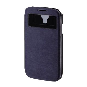 "Hama Booklet ""Window"" - husa de protectie Samsung Galaxy S4 - albastru inchis"