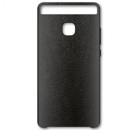 Huawei P9 - Capac protectie spate piele - Negru