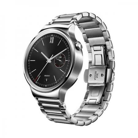 Huawei W1 Smartwatch 42mm - carcasa si curea bratara din otel inoxidabil, argintiu