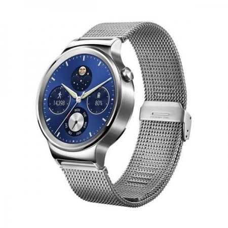 Huawei Smartwatch 42mm - carcasa si curea mesh din otel inoxidabil, argintiu
