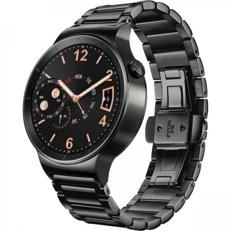Huawei W1  Smartwatch 42mm - carcasa si  link strap din otel, negru