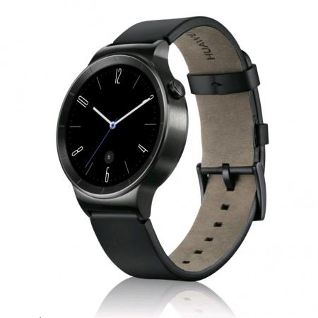 Huawei W1 Smartwatch 42mm - curea de piele, negru