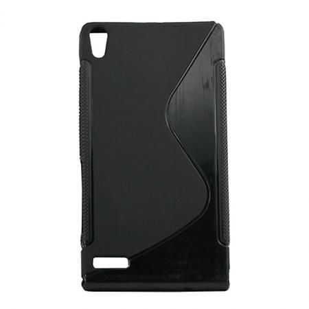 Husa Poliuretan Huawei Ascend P6 Negru