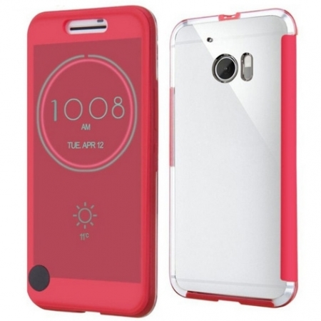Cronos Ice View - Husa pentru HTC 10 - Rosu