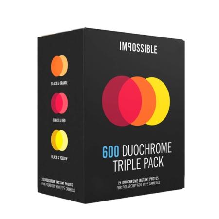 Impossible 600 Duochrome - set 3 pachete film Rosu/Portocaliu/Galben