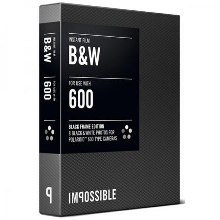 Impossible B&W 2.0 - film instant pentru Polaroid 600 - rama neagra