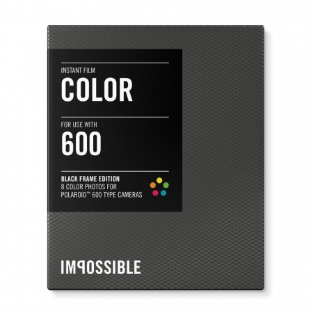 Impossible Color - film instant pentru Polaroid 600 - rama neagra