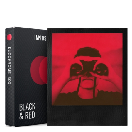 Impossible Duochrome - Film instant Negru & Rosu pentru Polaroid 600