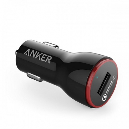 Incarcator auto premium Anker PowerDrive+ 1 24W Qualcomm Quick Charge 3.0 negru
