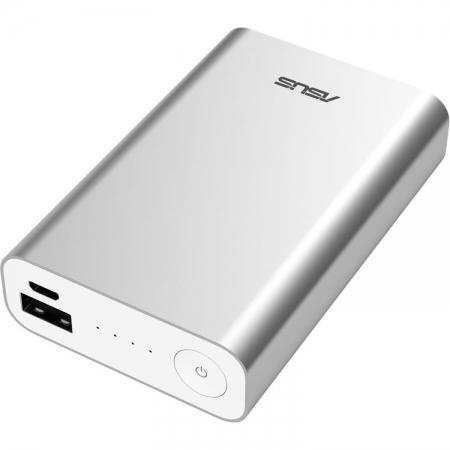 Incarcator portabil universal ZenPower, capacitate baterie 10050 mAh, argintiu