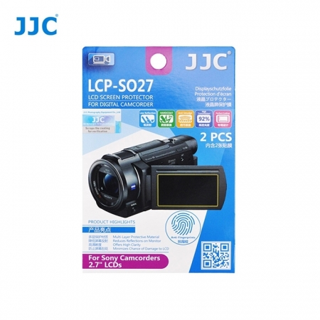 JJC - Folie protectie LCD pentru Camere Video Sony, 2.7