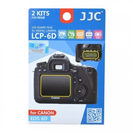 JJC - Folie protectie LCD pentru Canon EOS 6D, 2 buc.