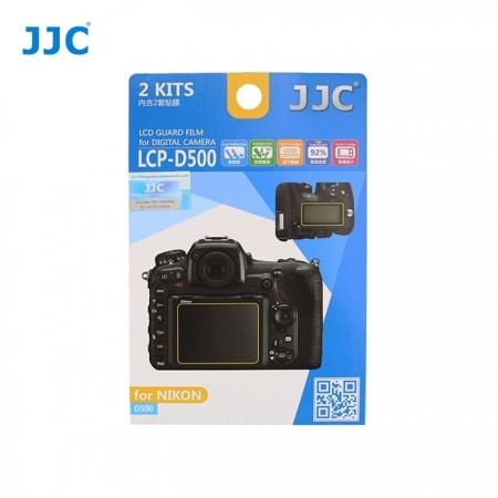 JJC - Folie protectie LCD pentru Nikon D500, 2 buc.