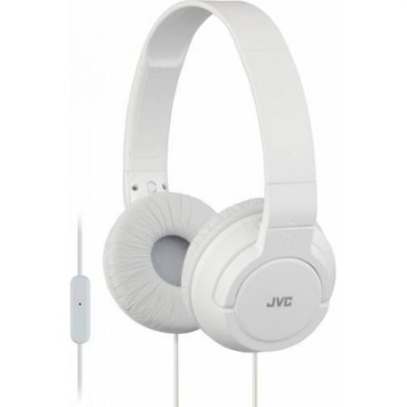 JVC HA-SR185-W-E  Casti tip DJ; ultra-usoare; telecomanda si microfon pe fir; pliabile - alb