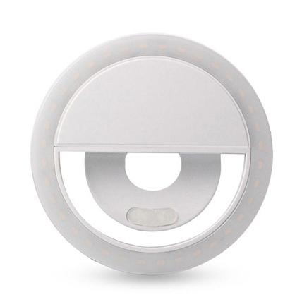 Kast LED Selfie Ring Light pentru Smartphone, Alb