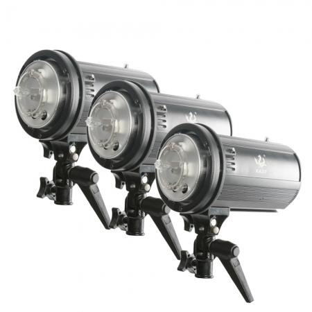 Kast STA-300 set 3 blituri 300W + accesorii