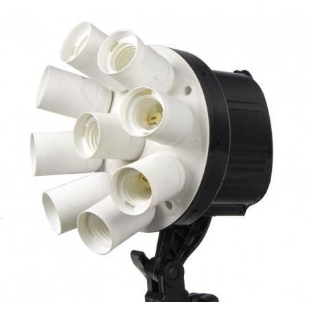 Kathay 9-head lamp - lampa becuri fluorescente si softbox 60x90cm