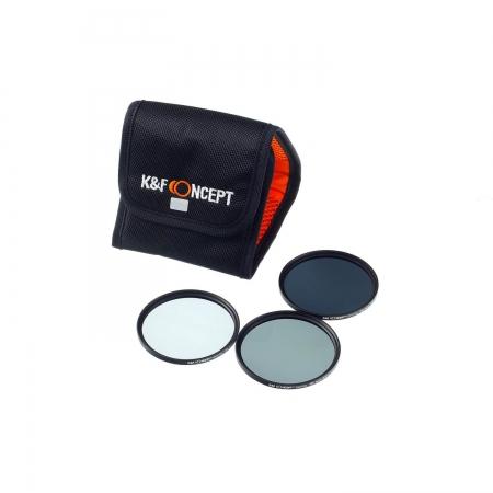 KentFaith - Set filtre ND2 + ND4 + ND8, 55mm