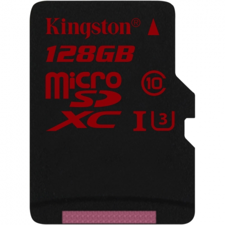 Kingston 128GB microSDHC UHS-I Class U3 90MB/s read 80MB/s write + SD Adapter