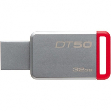 Kingston 32GB USB 3.0 DataTraveler 50 (Metal/Rosu) BULK125033233