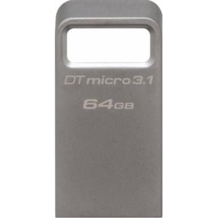 Kingston 64GB DTMicro USB 3.1/3.0 Type-A metal ultra-compact flash drive