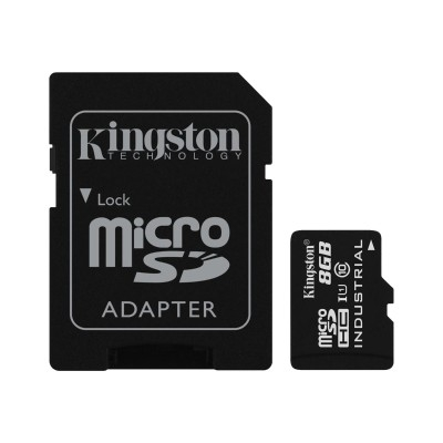 Kingston 8GB microSDHC UHS-I Industrial Temp + Adaptor SD