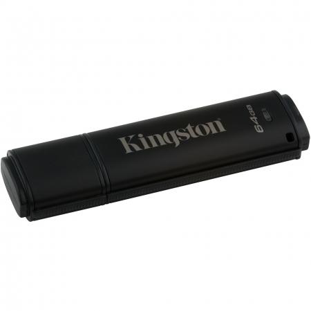 Kingston DataTraveler 4000G2 with Management 64GB, 256-bit AES Encryption