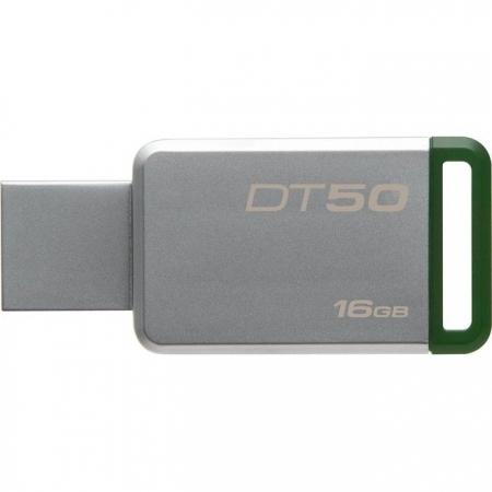 Kingston DataTraveler 50 16GB, USB 3.0 (Metal/ Verde)