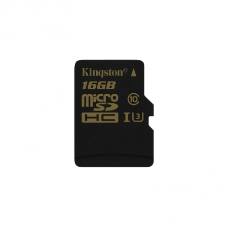 Kingston Gold microSDHC - Card 16GB, Clasa UHS-I U3, 90R/45W BULK125033979-1