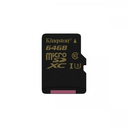 Kingston Gold microSDXC - Card 64GB, Clasa UHS-I U3, 90R/45W