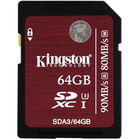 Kingston SDXC 64GB Class 10 UHS-I 90MB/s - BULK125022957
