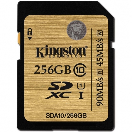 Kingston SDXC Ultimate 256GB  Class 10 UHS-I 90MB/s citire 45MB/s scriere