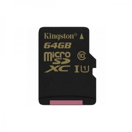 Kingston microSDXC 64GB - Card memorie Clasa 10, UHS-1, 90MB/s citire, 45MB/s scriere