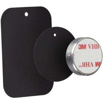 Kit HOLMAGSL - Suport auto telefon magnetic, prindere de bord, Argintiu