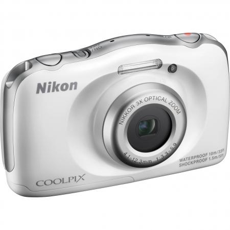 Kit Nikon Coolpix S33 + Ghiozdan, Alb