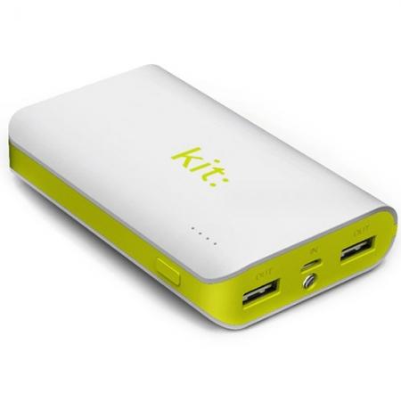 Kit Vision - Acumulator extern 6.000 mAh cu Lanterna si Indicator nivel baterie Alb