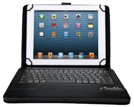 Kit Vision KBCSUNILNK - Husa universala cu tastatura Bluetooth 9-10 inch - negru