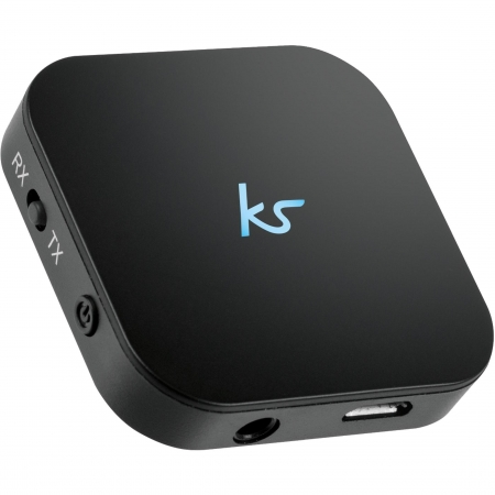KitSound Bluetooth Music Adaptor - receptor si transmitator audio universal, jack 3.5mm aux-in cu bluetooth – Negru