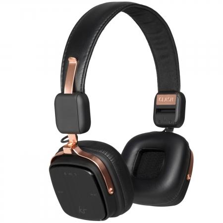 KitSound Clash Evolution - Casti bluetooth stereo, On-Ear, microfon incorporat – Rose Gold