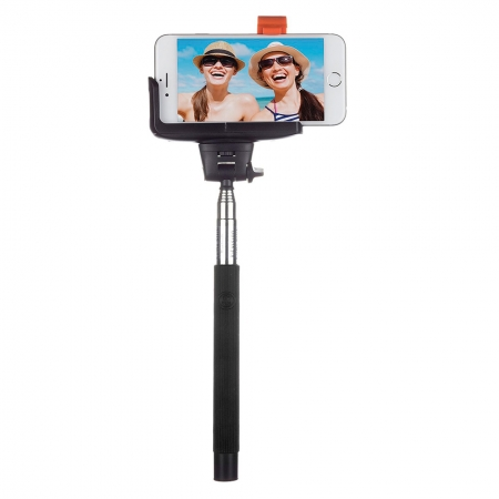 KitVision BTSSPHBK Selfie Stick extensibil cu control actionare shutter pe bluetooth si suport de telefon, Negru RS125017247