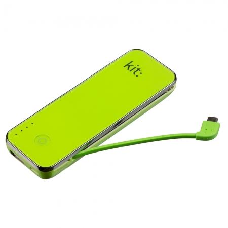 KitVision Fashion PWR4500- acumulator extern 4500 mAh cu cititor MicroSD verde